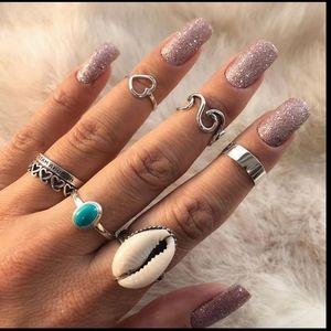 *Adelle* 6 Piece Ring Set